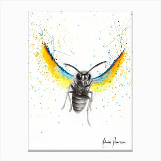 Brave Busy Bee Canvas Print