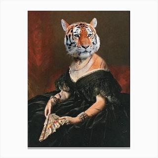 Lady Tiger Canvas Print