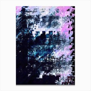 Cloud Suede Canvas Print