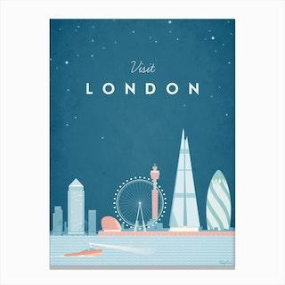 Visit London Canvas Print