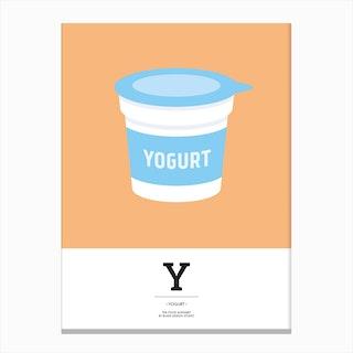 The Food Alphabet – Y Canvas Print