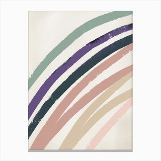 Abstracto Rainbow Pastels Canvas Print