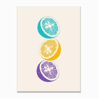 Blue Oranges Canvas Print