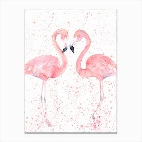 Flamingo Double  I Canvas Print