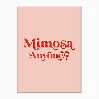 Mimosa Anyone Cocktail Kitchen Canvas Print