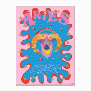 Aries Zodiac Starsign Canvas Print