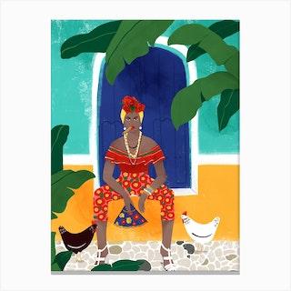 Femme Au Cigare Canvas Print