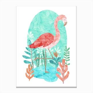 Flamingo Feelings Canvas Print