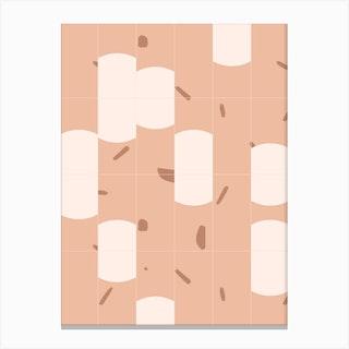 Earthy Tiles 03 Canvas Print