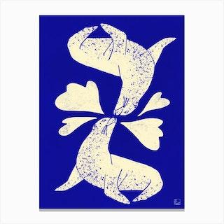 Seals In Love Canvas Print
