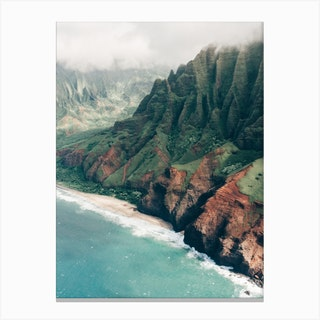 Na Pali Coast Of Kauai In Hawaii Canvas Print