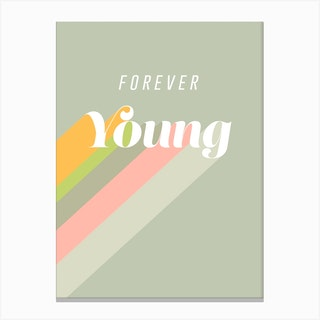 Forever Young Retro Stone Canvas Print