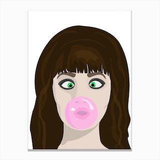 Blow gum Canvas Print