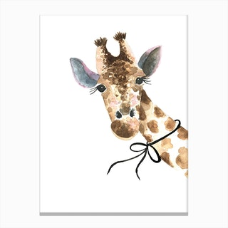 Std Baby Giraffe Canvas Print