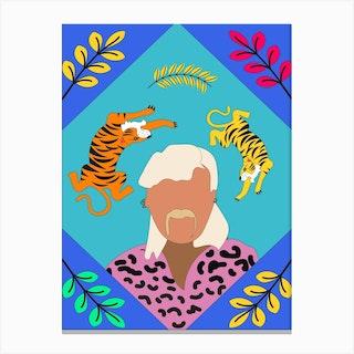 Joe Exotic Tiger Card Canvas Print