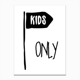 Kids Only Canvas Print