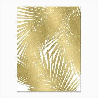 Gold Palms Canvas Print