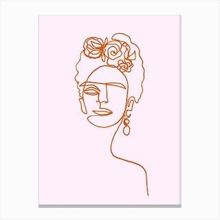 Frida Kahlo Pink Std Canvas Print