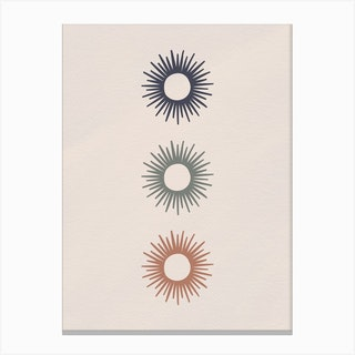 Triple Sun Canvas Print