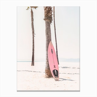 Pink Surf Canvas Print