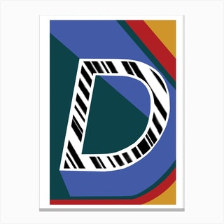 D Geometric Font Canvas Print
