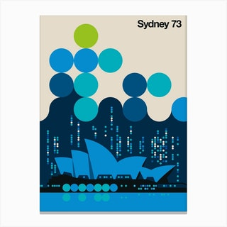 Sydney 73 Blue Canvas Print
