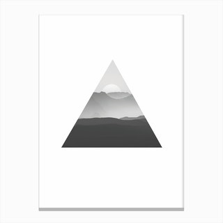 Triangle BW Sunrise Canvas Print