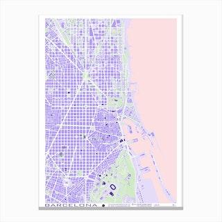 Barcelona Violet Canvas Print