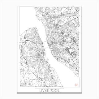 Liverpool Map Minimal Canvas Print