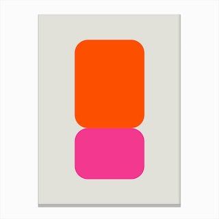 Emphatic Orange Pink Canvas Print