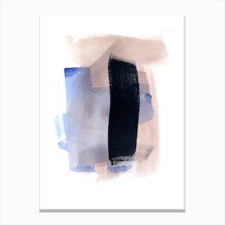 Black Line Canvas Print