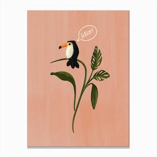 Hello Mr Toucan Canvas Print