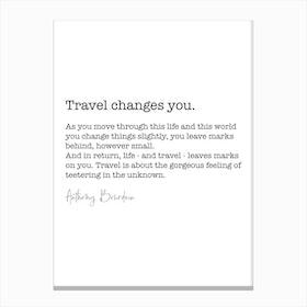 Travel Quote Canvas Print