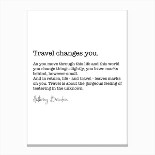 Travel Quote Canvas Print
