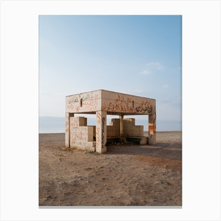 Bus Stop With A View Canvas Print