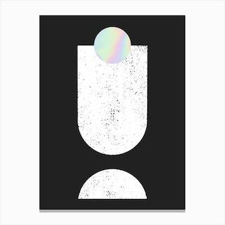 Holographic Minimal Shapes Canvas Print