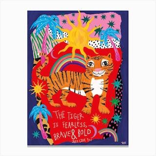 Brave Tiger Canvas Print