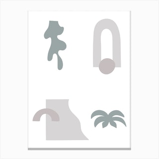 Desert Vibes Abstract I Canvas Print