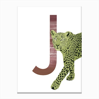 J Jaguar Canvas Print