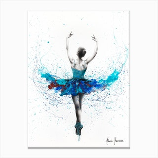 Floating Lake Ballet Canvas Print