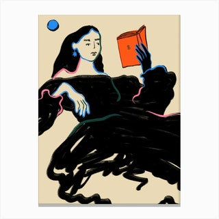 Midnight Reading Canvas Print