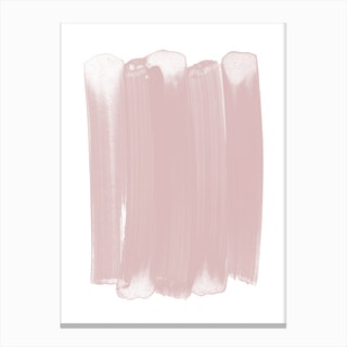Pink Strokes Canvas Print