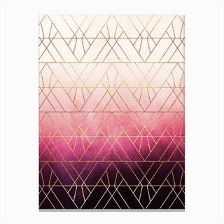 Pink Ombre Triangles Canvas Print