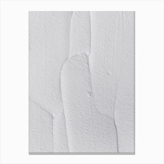 White Textures 3 Abstract Shapes Canvas Print