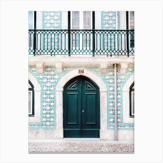 The Green Door Lisbon Portugal Canvas Print