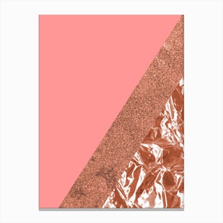 Rose Gold Mountain Canvas Print
