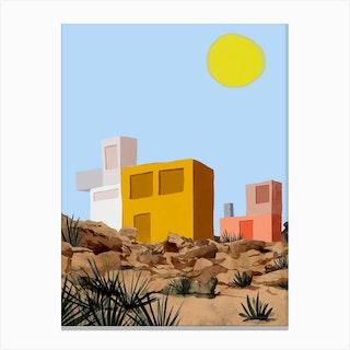 Cabin In The Desert Canvas Print
