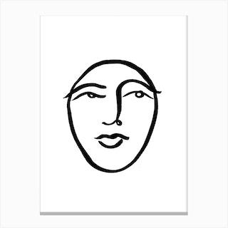 Faces 31 Std Canvas Print