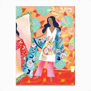 The New Dress Mirror Canvas Print
