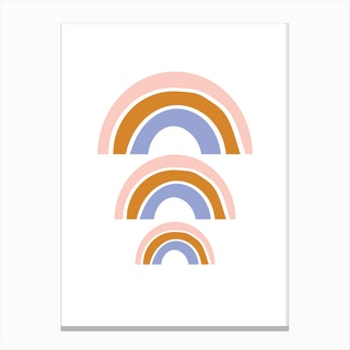 Triple Rainbow Canvas Print
